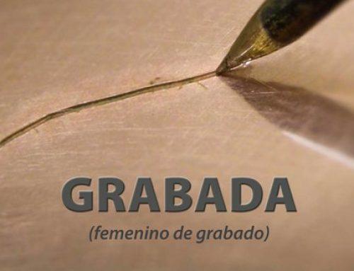 Grabada (femenino de grabado)